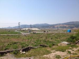 陸前高田市 盛り土の工事が始まっています
